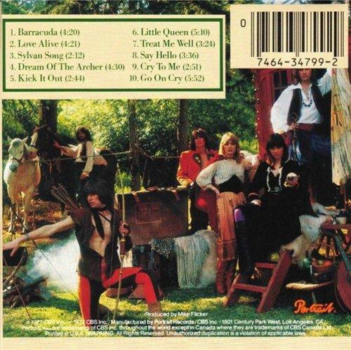 HEART - Little Queen Album Back Cover 1977